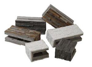 *コンクリートブロックと天然石の融合*